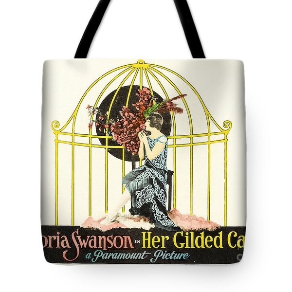 Her Gilded Cage Paramount 1922 Tote Bag