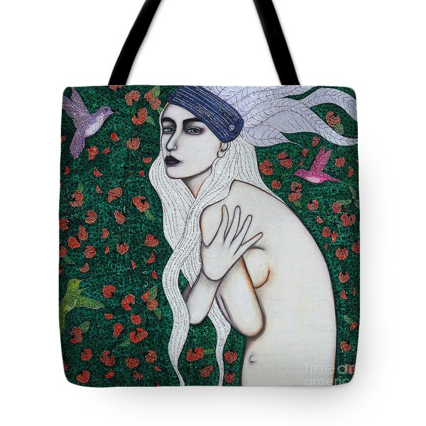 Tote Bag featuring the mixed media Her Heart Was Wild by Natalie Briney