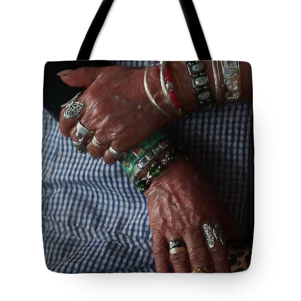 Tote Bag featuring the photograph Her Jewelry by Travis Burgess