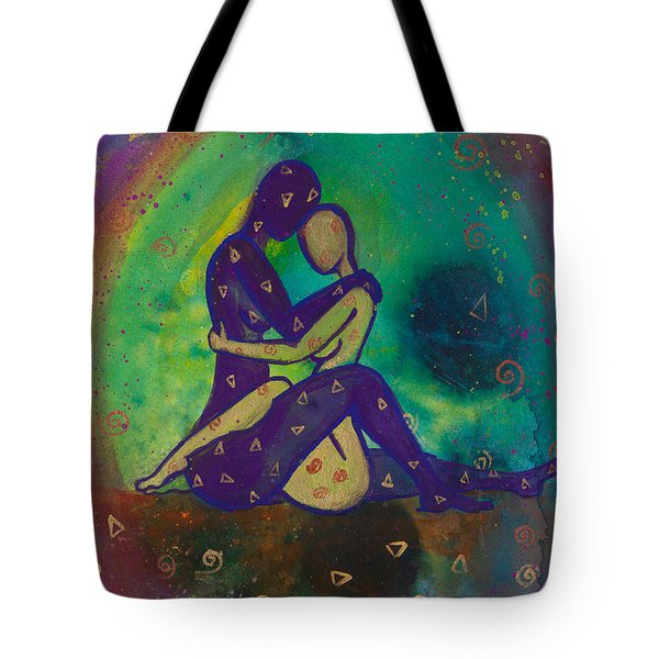 Her Loves Embrace Divine Love Series No. 1006 Tote Bag