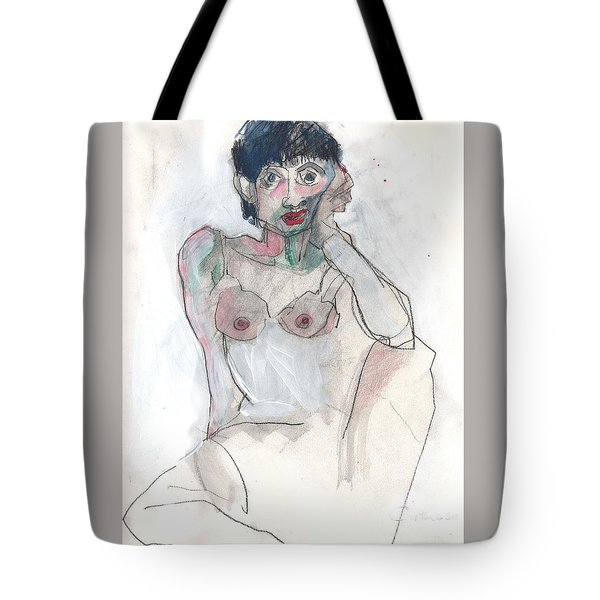 Her - Self Portrait Tote Bag by Carolyn Weltman