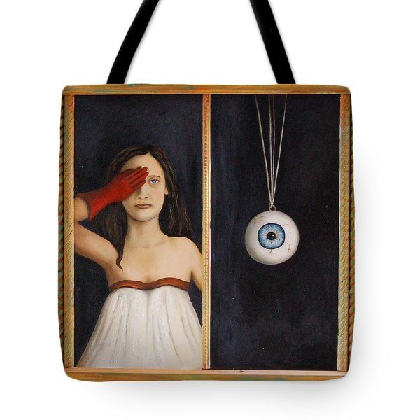 Her Wandering Eye Tote Bag by Leah Saulnier The Painting Maniac
