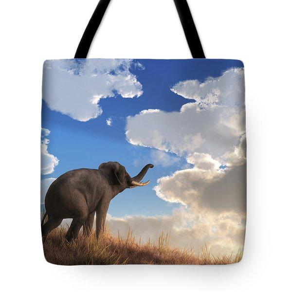 Tote Bag featuring the digital art Heralding The Dawn by Daniel Eskridge