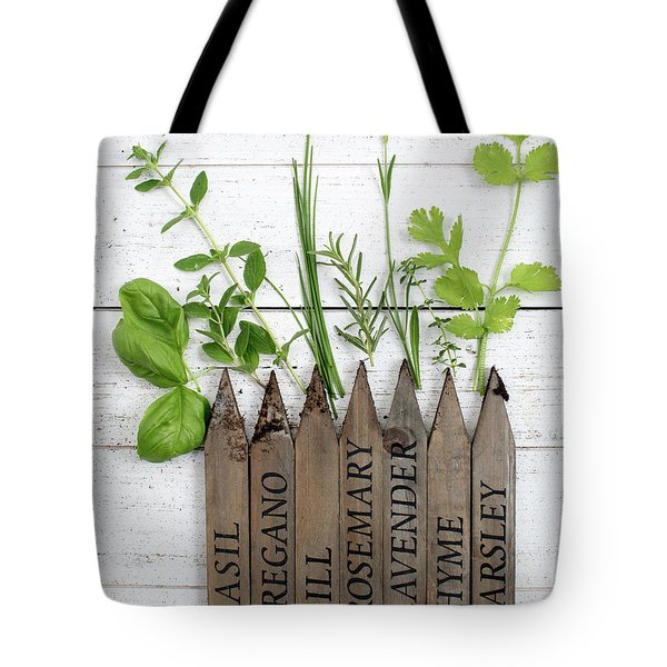 Tote Bag featuring the photograph Herb Garden by Rebecca Cozart