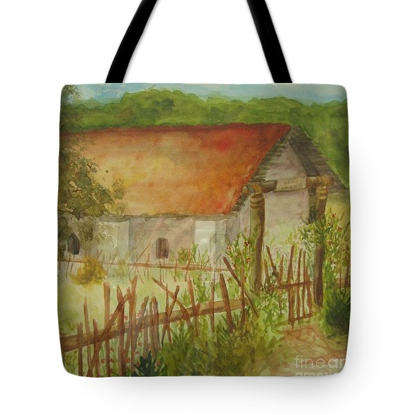 Tote Bag featuring the painting Herb Garden by Vicki  Housel