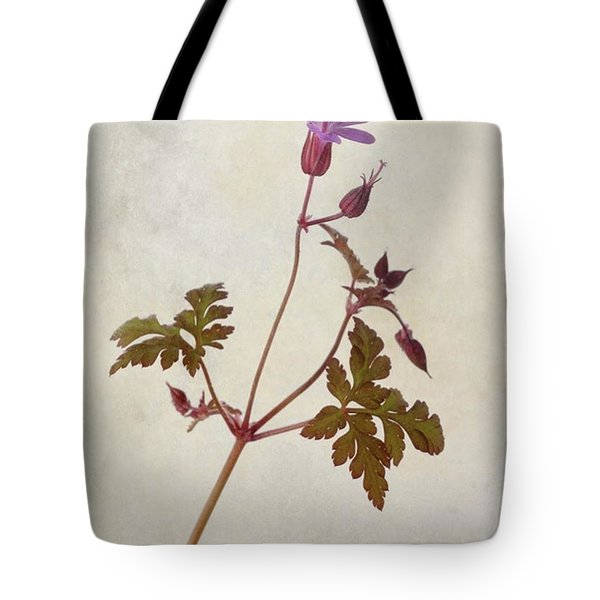 Herb Robert - Wild Geranium  #flower Tote Bag