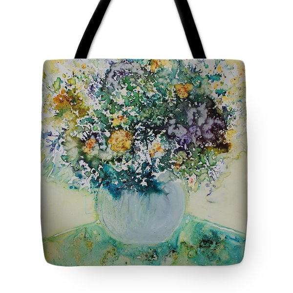 Tote Bag featuring the painting Herbal Bouquet by Joanne Smoley