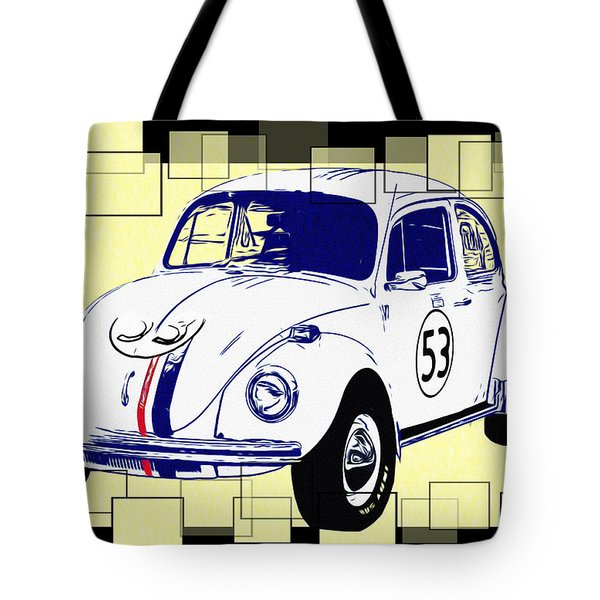 Herbie The Love Bug Tote Bag by Bill Cannon