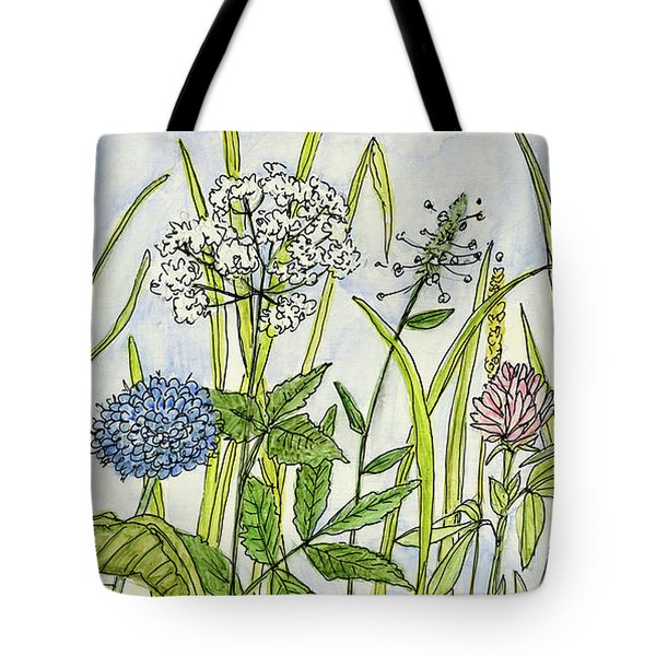 Herbs And Flowers Tote Bag
