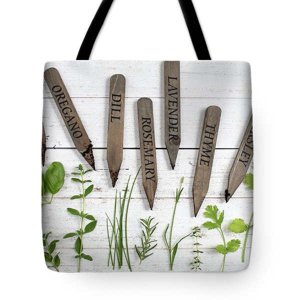 Tote Bag featuring the photograph Herbs by Rebecca Cozart