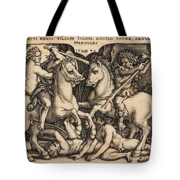 Hercules Abducting Iole Having Slain Her Father King Eurytus Tote Bag