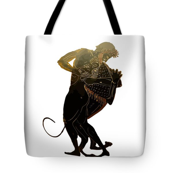 Hercules And The Nemean Lion Tote Bag