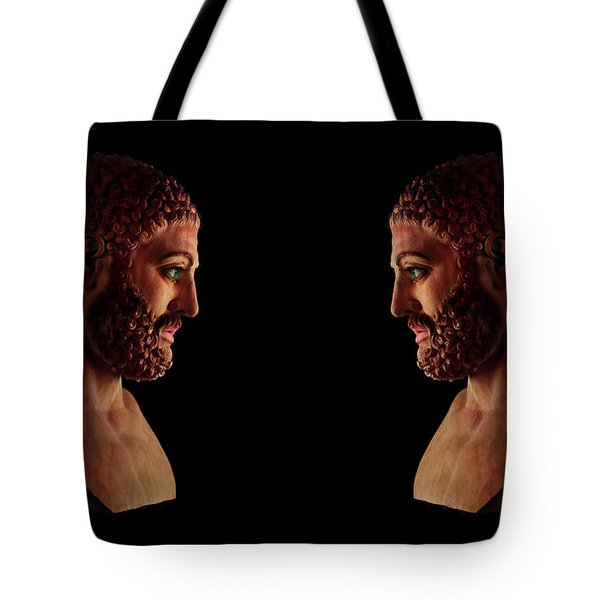 Tote Bag featuring the mixed media Hercules - Brunettes by Shawn Dall
