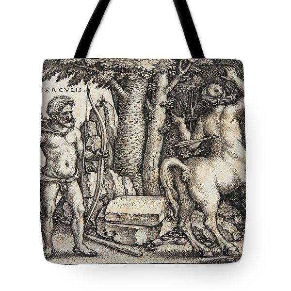 Hercules Shooting The Centaur Nessus Tote Bag