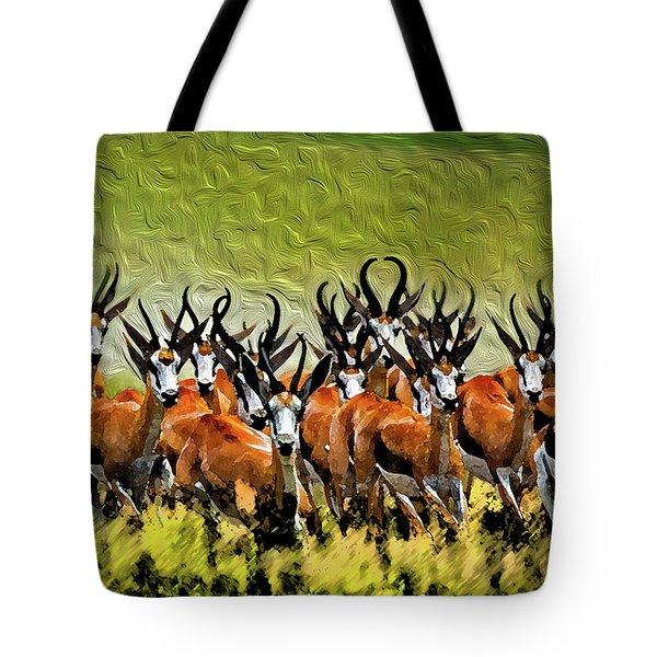 Herd 2 Tote Bag by Bruce Iorio