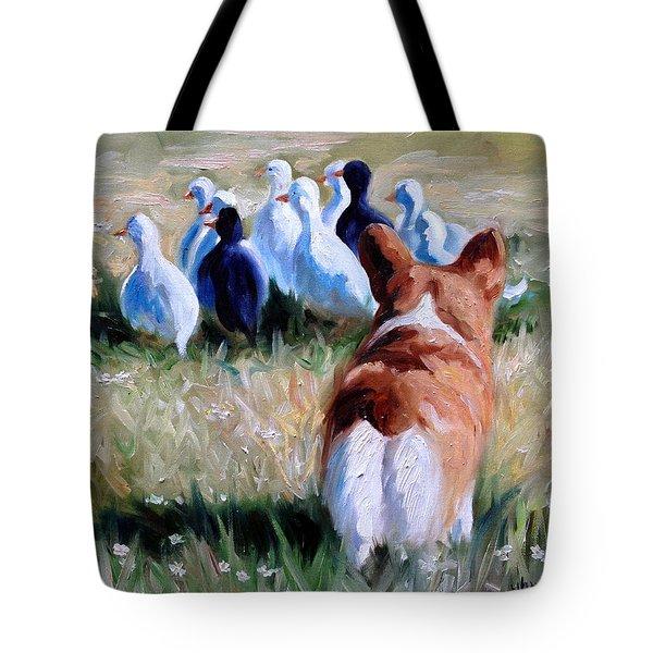 Herding Ducks Tote Bag