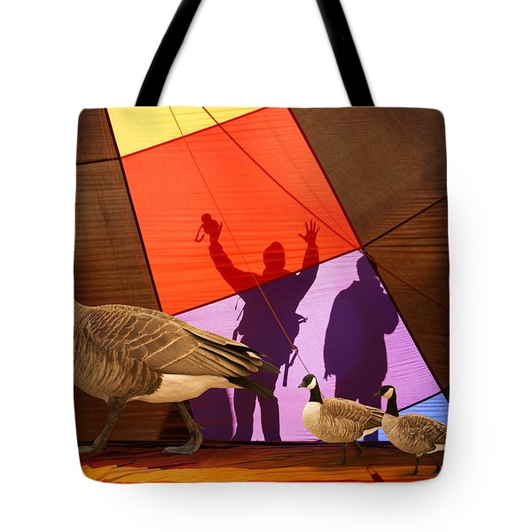 Here A Minute Ago Tote Bag
