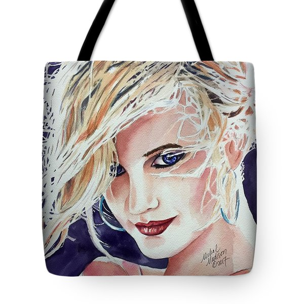 Tote Bag featuring the painting Here And Now by Michal Madison
