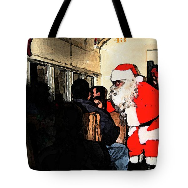 Tote Bag featuring the photograph Here Come Santa by Kim Henderson