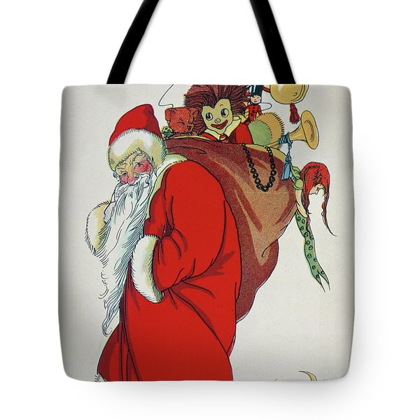 Here Comes Santa Claus Tote Bag