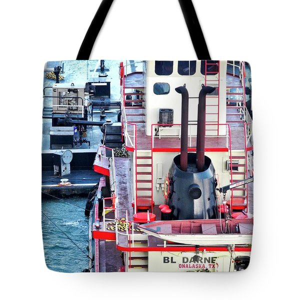 Here Comes The Diesel Fuel For The Ship Tote Bag