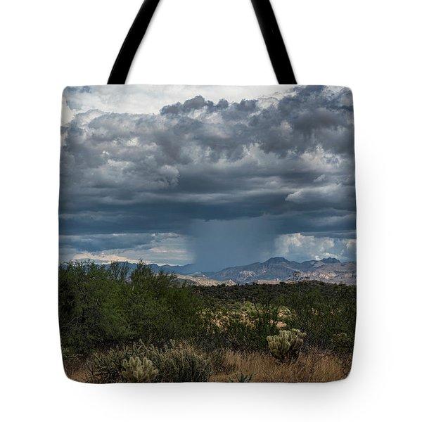 Tote Bag featuring the photograph Here Comes The Rain Again by Saija Lehtonen