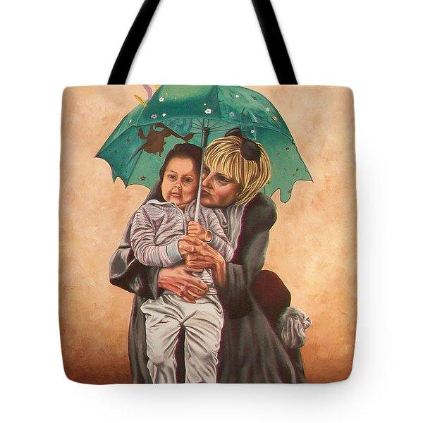 Here Comes The Rain - Aqui Viene La Lluvia Tote Bag