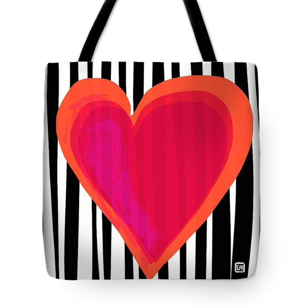 Tote Bag featuring the painting Here Is My Heart by Lisa Weedn