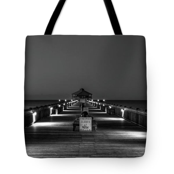 Tote Bag featuring the photograph Here It Comes Folly Beach Pier Sunrise Art by Reid Callaway