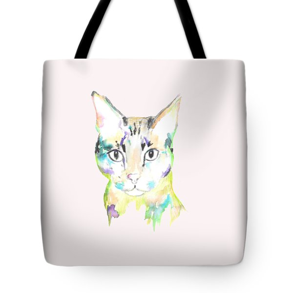 Here Kitty T-shirt Tote Bag by Herb Strobino