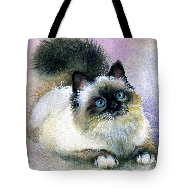 Here Kitty Tote Bag by Karen Showell