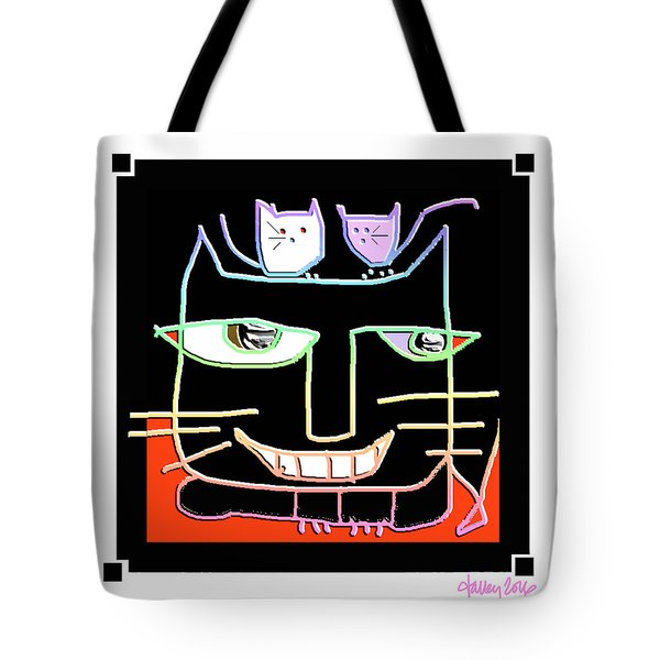 Here,  Kitty Kitty Tote Bag