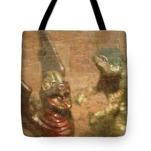 ....here There Be Dragons Tote Bag by Martina Fagan