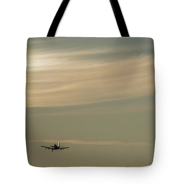 Here We Go Into The Wild Blue Yonder Tote Bag