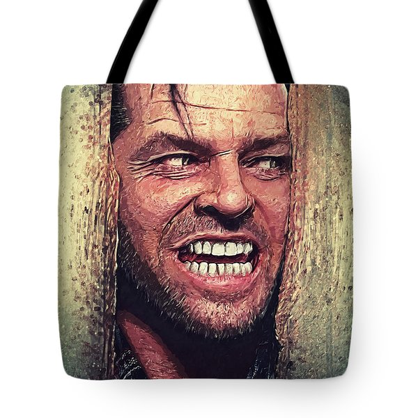 Here's Johnny - The Shining  Tote Bag by Taylan Apukovska