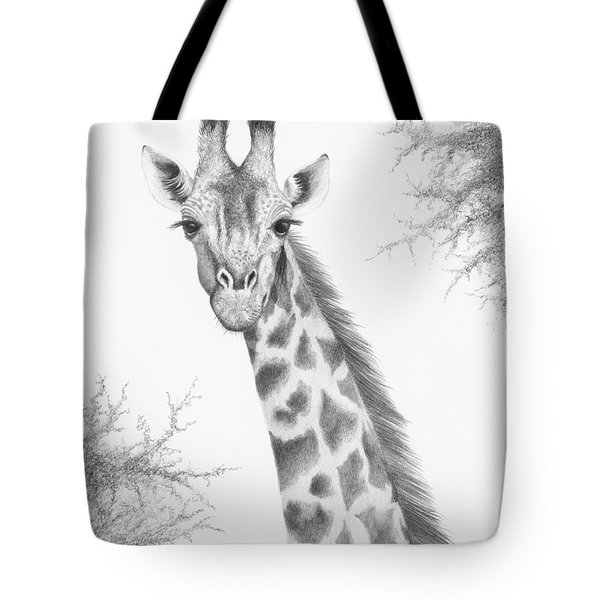 Tote Bag featuring the drawing Here's Looking At You by Phyllis Howard