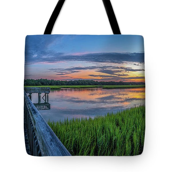 Heritage Shores Nature Preserve Sunrise Tote Bag