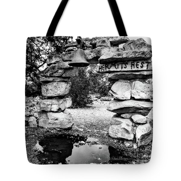 Hermit's Rest, Black And White Tote Bag