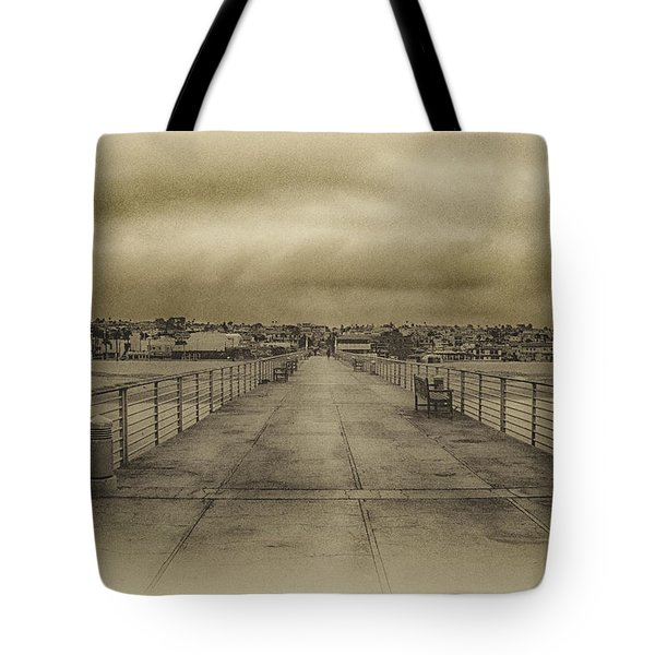 Tote Bag featuring the photograph Hermosa Beach Pier  A by Joseph Hollingsworth