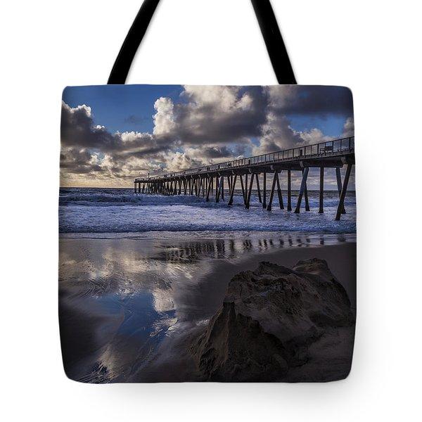 Hermosa Beach Pier Tote Bag