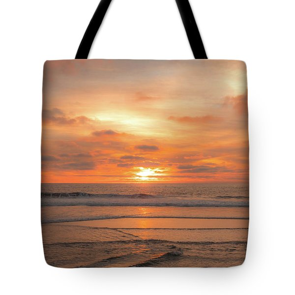 Tote Bag featuring the photograph Hermosa Sunset Classic3 by Michael Hope