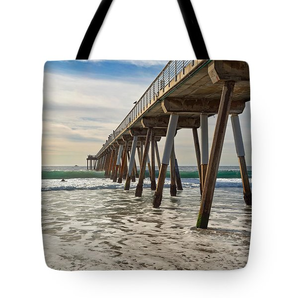 Tote Bag featuring the photograph Hermosa Under The Pier by Michael Hope
