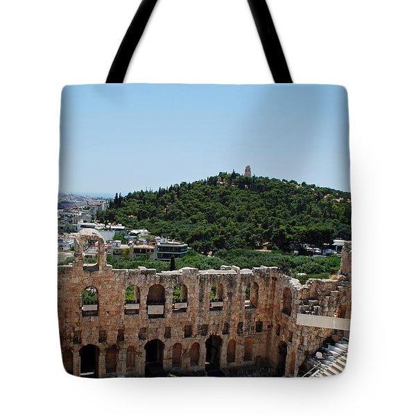 Tote Bag featuring the photograph Herodeons Amphitheatre by Robert Moss