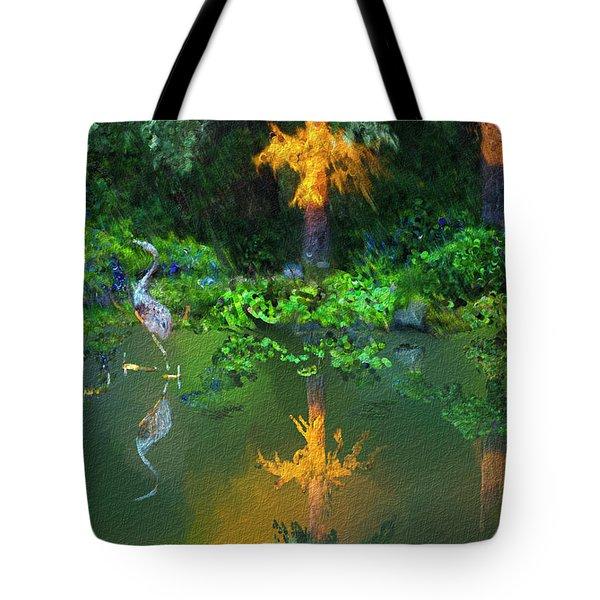 Heron Art Tote Bag by Dale Stillman