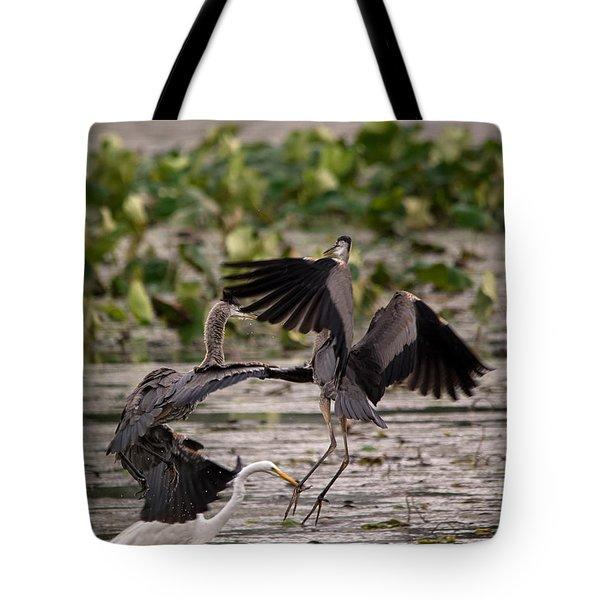 Heron Battle Tote Bag
