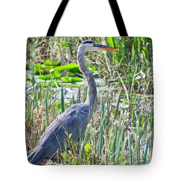 Heron By The Riverside Tote Bag