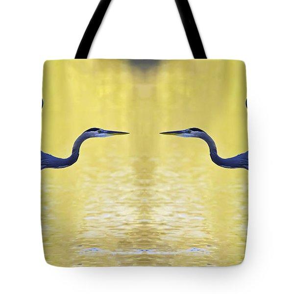 Heron Dance Tote Bag