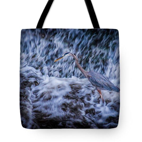 Heron Falls Tote Bag by Rikk Flohr