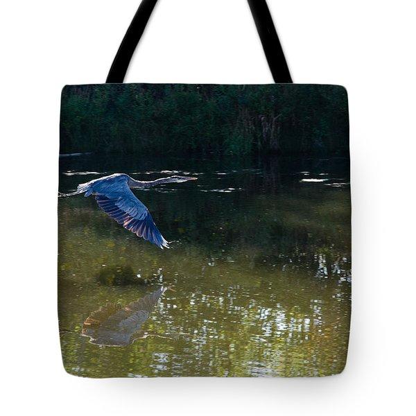 Heron Flight Tote Bag