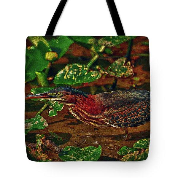 Heron Hdr Tote Bag by Travis Burgess